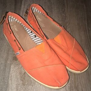 Toms Men's Pumpkin Canvas Loafers